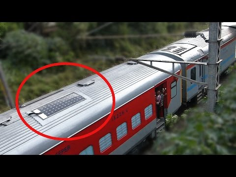 SOLAR powered TRAIN Coach : Indian Railways (Experiment)
