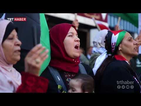 New York'ta göstericiler Filistinliler için sokaktaydı