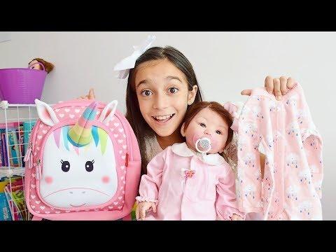 ENXOVAL DA MINHA BEBÊ REBORN ★ Mochila, brinquedos, roupinhas e acessórios da minha boneca Isabella