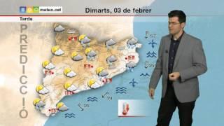 predicció per a dimarts 03 02 2015 tarda precipitacions amb cota de neu baixa