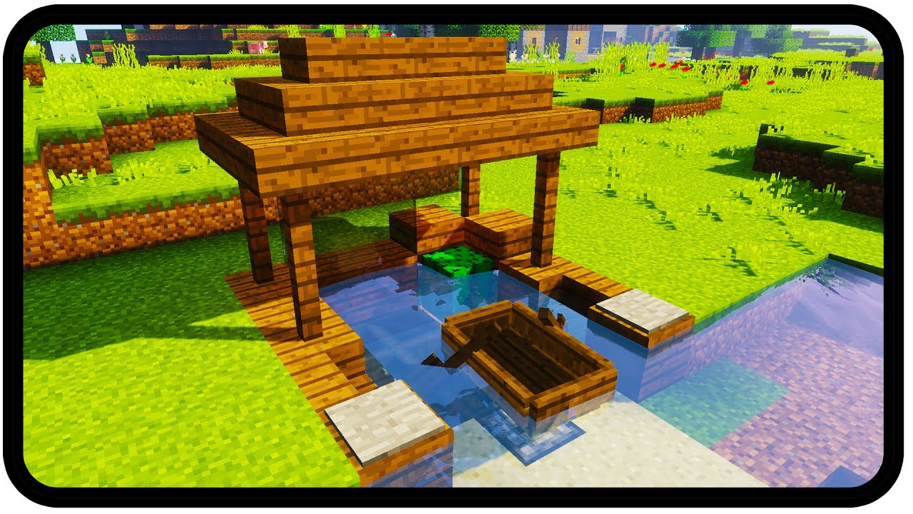 Minecraft How To Make A Dock Design Youtube