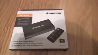IOGear HDMI Switch Unboxing
