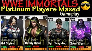 WWE IMMORTALS All 💥PLATINUM PLAYERS MAXED💥 (Exoskeleton AJ Styles, Viper Dojo Randy Orton) Gameplay