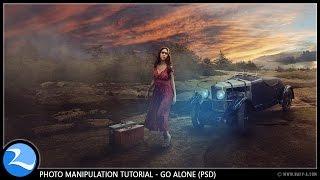 Go Alone Photo Manipulation Photoshop Tutorial [PSD]