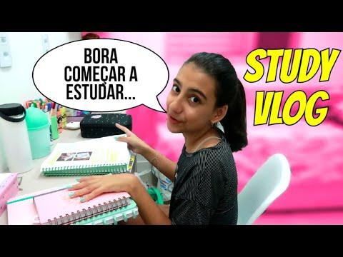 MINHA ROTINA DE ESTUDOS 100% REAL - STUDY VLOG - Julia Moraes