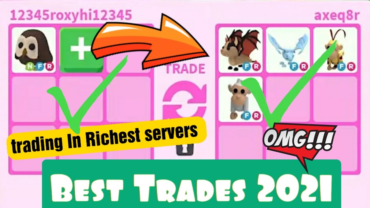 Best Accepted Trades In Richest Adopt Me Server 2021
