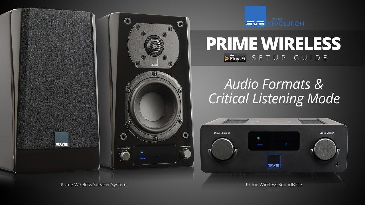 Prime Wireless Speaker Manual – SVS