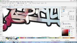 SpeedArt in CorelDraw x7 Draw Hera Aprilia