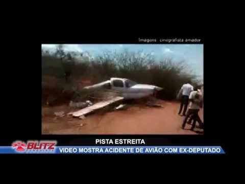 IMAGENS MOSTRAM ACIDENTE DURANTE POUSO DE AERONAVE COM EX DEPUTADO
