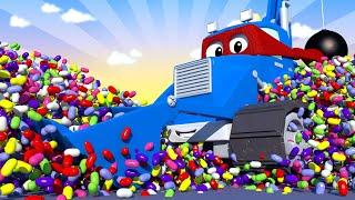 СТРОИТЕЛЬНЫЙ Грузовик - Трансформер Карл в Автомобильный Город 🚚 ⍟ детский мультфильм