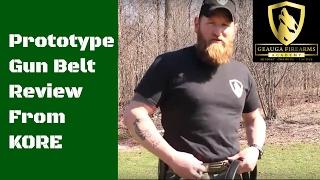 Testing A Prototype Gun Belt   KORE Nylon Web Belt