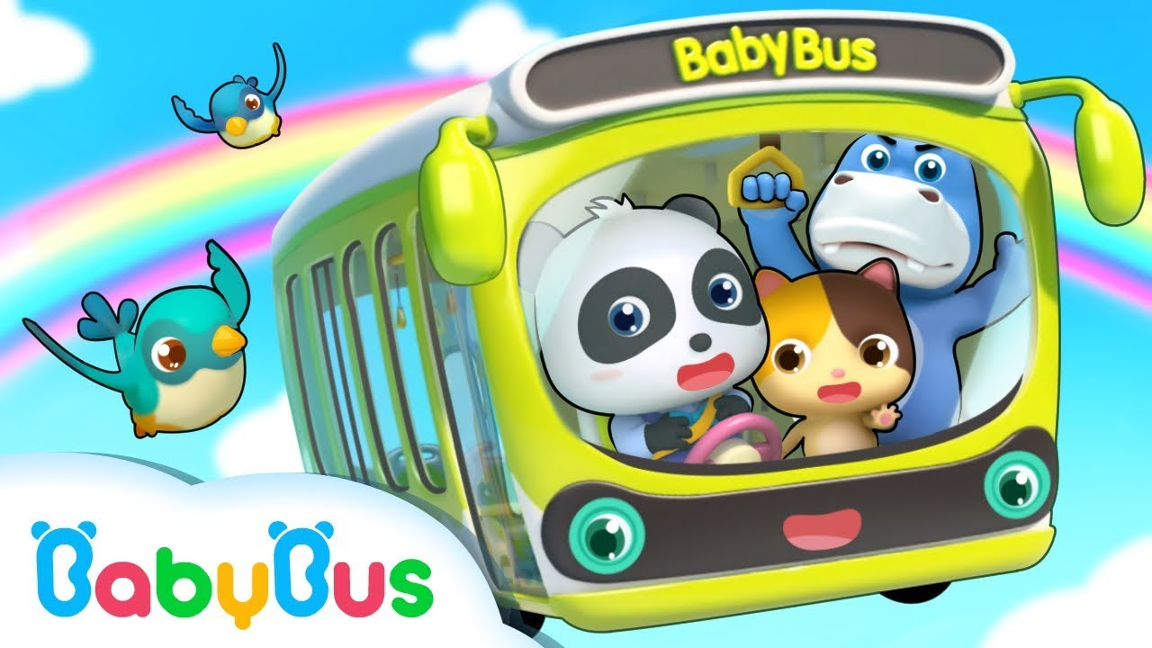 Baby Panda Bus Driver   Wheels on the Bus   Number Song ...