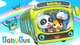Baby Panda Bus Driver | Wheels on the Bus | Number Song, Car Song | Nursery Rhymes | BabyBus