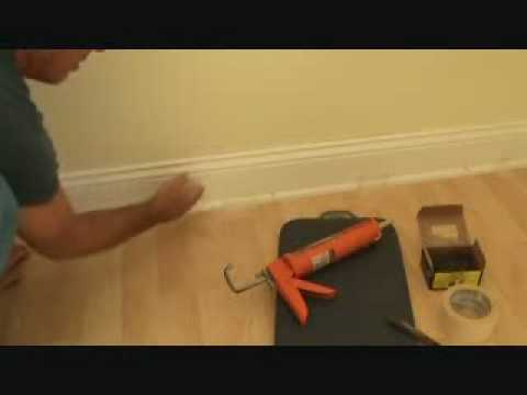 Installing Baseboard Trim To A Concrete Wall Youtube