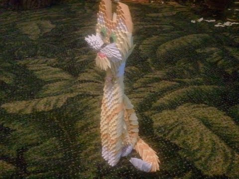 3d Origami yellow cat
