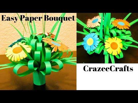 DIY | Paper flower Bouquet | Paper Crafts | Paper Flowers | CrazeeCrafts