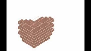 brick building кладка углов кирпичных стен в 1,5 кирпича(раскладка кирпича для возведения малоэтажных домов, использована программа проектирования Катаева Олега., 2010-11-27T12:40:56.000Z)