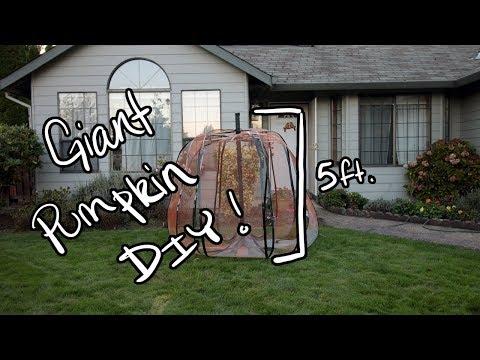 DIY Giant 5ft Tall PUMPKIN for Halloween