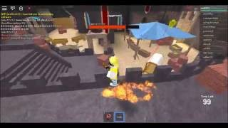 Gameplay at Mad Games * Laser Knife * ROBLOX