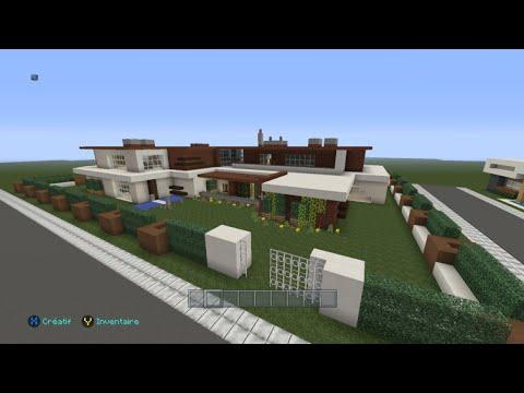 Full download minecraft moderne villa 1 for Modernes haus command