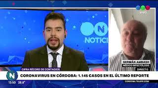 Coronavirus en Córdoba: 1152 casos en un día