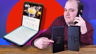 Galaxy Z Flip unboxing (with foldable case)