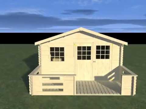 abri de jardin bois avec terrasse decor et jardin bricomarch youtube. Black Bedroom Furniture Sets. Home Design Ideas