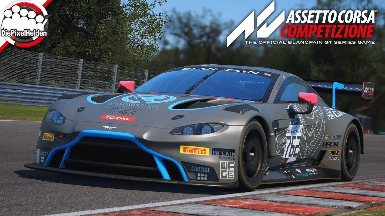 Assetto Corsa Competizione Aston Martin V8 Vantage Gt3 Brands Hatch Let S Play Acc Youtube