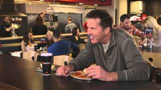 Mike Modano high five mashup from pie five pizza commercial