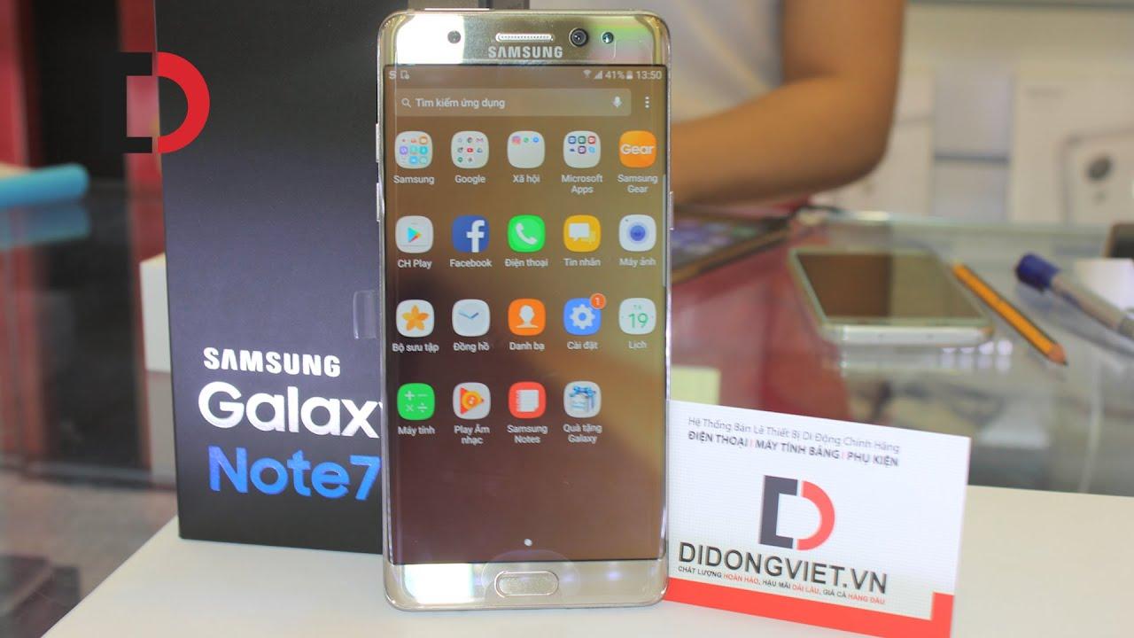 Mở hộp Samsung Galaxy NOTE 7 - Siêu phẩm đẹp tuyệt vời