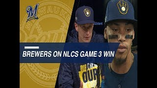 NLCS Gm3: Counsell, Arcia and Chacin on Game 3 win