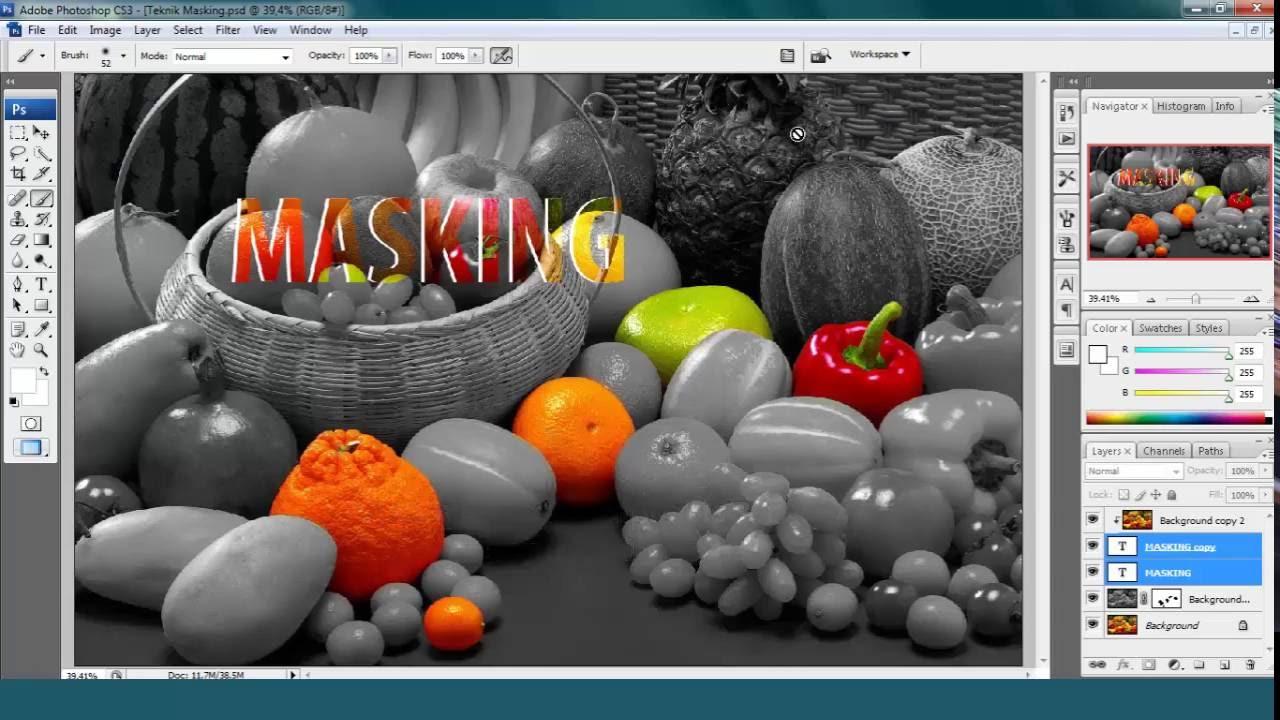 Teknik Masking pada Foto Menggunakan Photoshop CS3 | Tutorial Photoshop