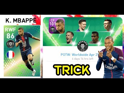 Trick to get 101 rated Mbappe | Player of the Week - POTW | PES Mobile 2019