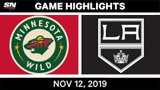 NHL Highlights   Wild vs Kings – Nov. 12, 2019