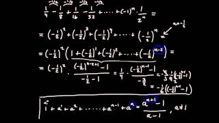 Summor del 4 - geometrisk summa, exempel