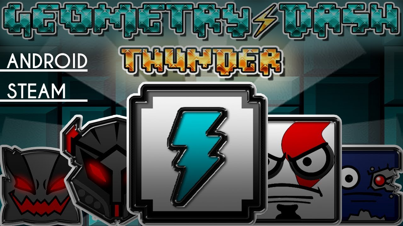 EPIC!! TEXTURE PACK - THUNDER | GEOMETRY DASH 2.11 | ANDROID & PC | DESCARGAR - DOWNLOAD