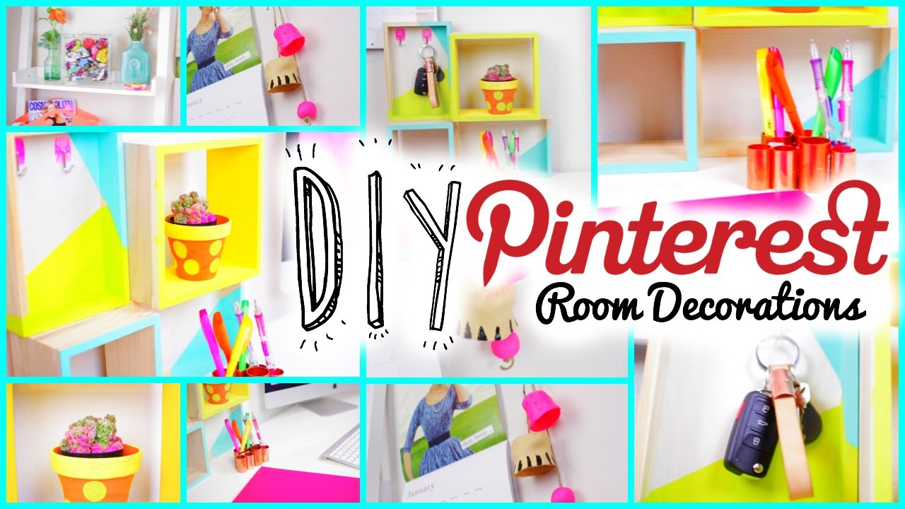 Diy room decorations pinterest tumblr inspired youtube for Room decor ideas step by step