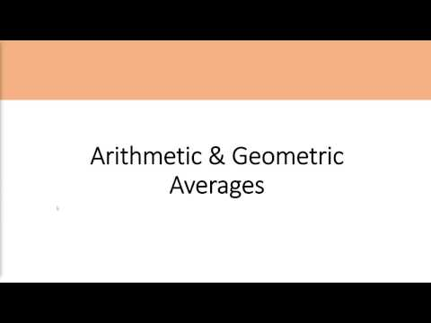 How To Calculate Arithmetic And Geometric Averages, Blume's Formula