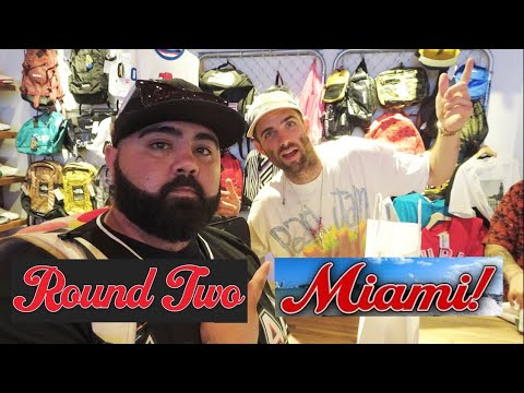 45aeff0bf5f4 GRAND OPENING ROUND TWO SOUTH BEACH MIAMI! 1ST LOOK IN STORE! (COPS SHUT IT  DOWN!! DRAMA)