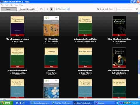 My Kindle Ebook Collection