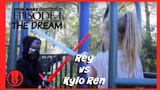 New Kids Play STAR WARS Kylo Ren vs Rey & Deadpool in Real Life | The Dream Episode 1 SuperHeroKids