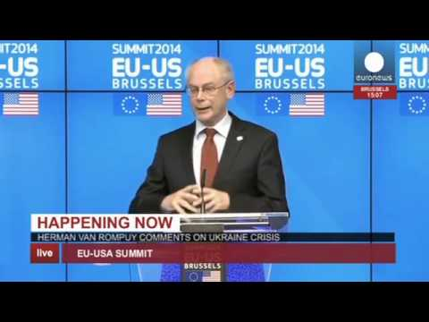 EU - USA Summit : Obama, Van Rompuy, and Barroso press conference (recorded live feed)