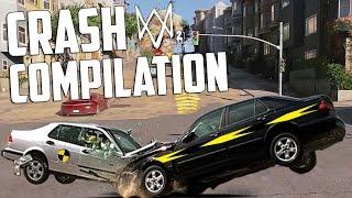 WATCH DOGS 2: CAR CRASH COMPILATION (VEHICLE CRASHES TEST)
