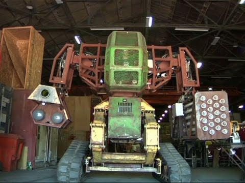 Giant Robots Prepare For US-Japan Battle