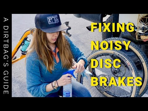 HOW TO FIX NOISY DISC BRAKES ON A MOUNTAIN BIKE | NO REPAIR STAND REQUIRED | DIY MTB REPAIR