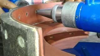 Brake Lining Rivetting & De-rivetting Machine Demo