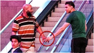 Download Touching Hands On Escalator Prank | Guy vs Girl Edition Mp3 and Videos