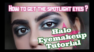 How to do Halo Eyemakeup | Easy Halo eye makeup tutorial | step by step Halo eyemakeup