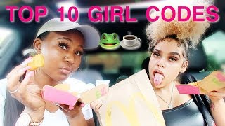 DISCUSSING  TOP 10 GIRL CODE RULES ... I CANT BELIEVE I SAID THAT !!