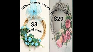 #Beautiful Willow flowers Wreath # D I Y Wall Decor||